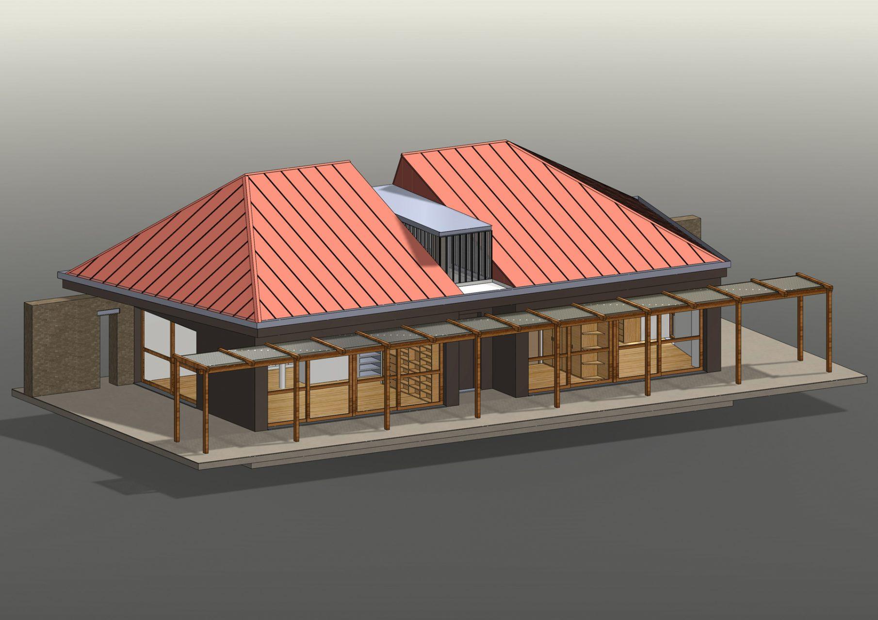 KL HOUSE 06 - axonometric view exterior F