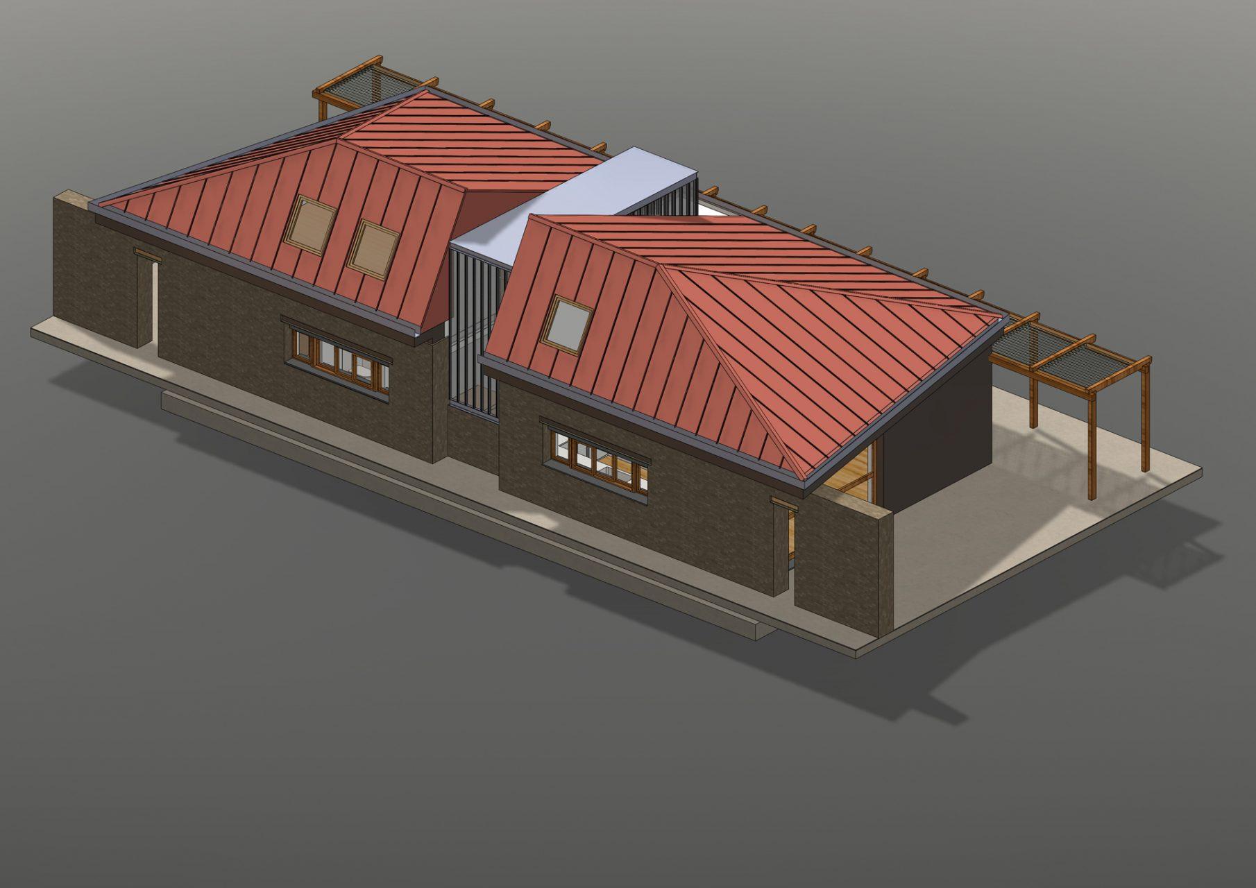 KL HOUSE 07 - axonometric view exterior F